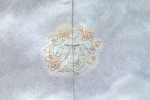 初代久保田一竹作 振袖「松韻」(引き振袖もしくは打掛)のサブ7画像