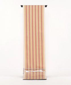 柳 崇作 綾織縞九寸帯 「白地太縞甲比丹裂」のメイン画像