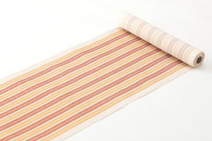 柳 崇作 綾織縞九寸帯 「白地太縞甲比丹裂」のサブ1画像