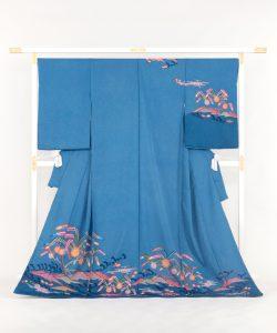 城間栄順作 琉球紅型訪問着のメイン画像