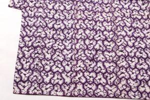 南部紫根染 紬着物のサブ2画像