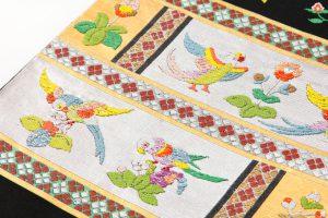 龍村平蔵製 袋帯 「木画インコ」のサブ2画像