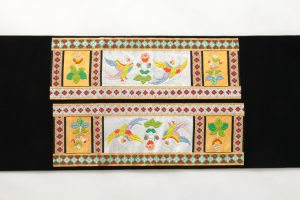 龍村平蔵製 袋帯 「木画インコ」のサブ3画像