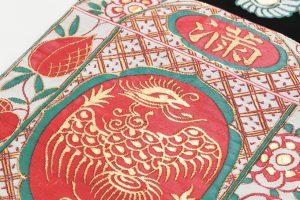 龍村平蔵製 袋帯 「赤絵満玉錦」のサブ2画像