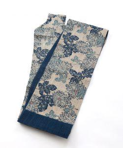 科布 藍型染八寸名古屋帯のメイン画像