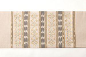 人間国宝 宮平初子作 首里花織名古屋帯のサブ3画像