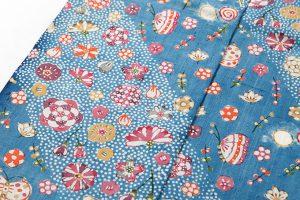岡本紘子作 型絵染紬着物地 「嬉々として」のサブ3画像