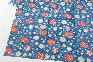 国画会会員 岡本紘子作 型絵染紬着物地 「百花にさきがけ」のサブ2画像