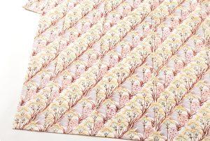 釜我敏子作 型絵染紬着物地「秋草文」のサブ2画像
