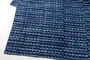 新道弘之作 藍染紬着物のサブ2画像