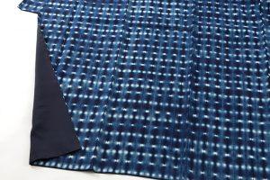 新道弘之作 藍染紬着物のサブ3画像