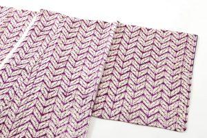 南部紫根染 紬着物のサブ1画像
