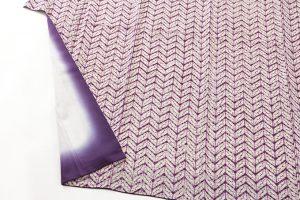 南部紫根染 紬着物のサブ3画像