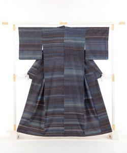 志村ふくみ作 紬着物「藍旅衣」のメイン画像