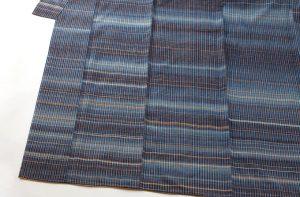 志村ふくみ作 紬着物「藍旅衣」のサブ2画像