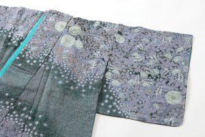 初代久保田一竹作 紗合わせ訪問着「紫幻花」のサブ1画像