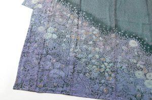 初代久保田一竹作 紗合わせ訪問着「紫幻花」のサブ2画像