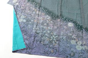 初代久保田一竹作 紗合わせ訪問着「紫幻花」のサブ3画像