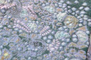 初代久保田一竹作 紗合わせ訪問着「紫幻花」のサブ4画像