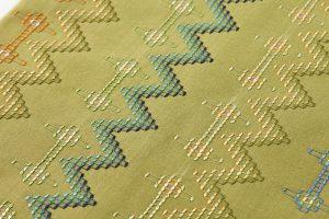 人間国宝 宮平初子作 首里花織名古屋帯のサブ2画像
