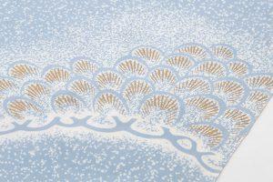日本工芸会正会員 坂井修作 塩瀬九寸染名古屋帯のサブ2画像