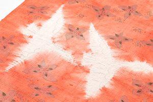 鈴木紀絵作 型絵染紬名古屋帯地のサブ2画像