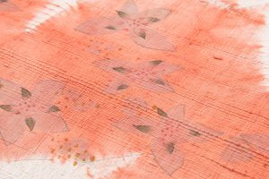 鈴木紀絵作 型絵染紬名古屋帯地のサブ3画像