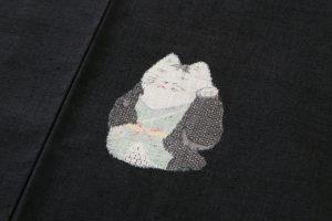 本場結城紬 100飛絣まねきネコのサブ4画像