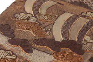 本場結城紬地 刺繍袋帯のサブ2画像