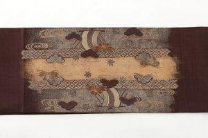 本場結城紬地 刺繍袋帯のサブ3画像