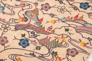 城間栄順作 本紅型芭蕉布九寸名古屋帯のサブ2画像