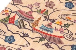 城間栄順作 本紅型芭蕉布九寸名古屋帯のサブ3画像