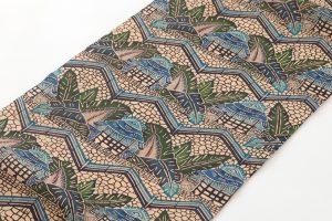 日本工芸会正会員 城間栄順作 本紅型芭蕉布九寸名古屋帯のサブ1画像