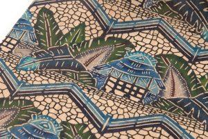 日本工芸会正会員 城間栄順作 本紅型芭蕉布九寸名古屋帯のサブ3画像