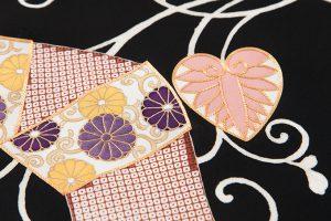 手描刺繍塩瀬名古屋帯地のサブ2画像