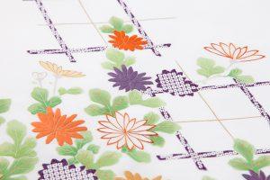 手描刺繍塩瀬名古屋帯地のサブ3画像