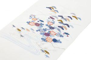 手描刺繍塩瀬名古屋帯地のサブ1画像
