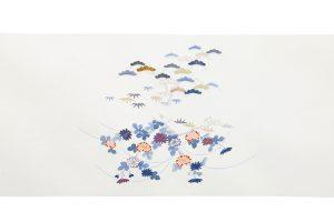 手描刺繍塩瀬名古屋帯地のサブ4画像