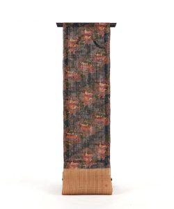 玉那覇有公作 本紅型藍染科布八寸名古屋帯のメイン画像