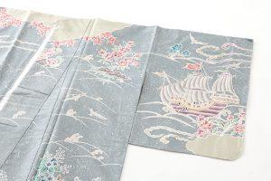 染大島紬訪問着のサブ1画像