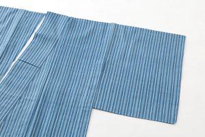 本場結城紬 藍染単衣着物のサブ1画像