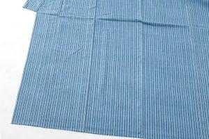 本場結城紬 藍染単衣着物のサブ2画像
