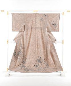出羽の織座製 ぜんまい紬訪問着のメイン画像
