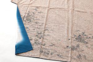 出羽の織座製 ぜんまい紬訪問着のサブ3画像
