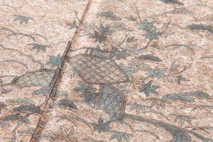 出羽の織座製 ぜんまい紬訪問着のサブ4画像