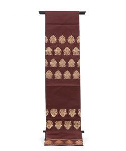 龍村平蔵製 袋帯地 「名物大鶏頭金襴」のメイン画像