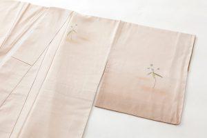 福田喜重作 紬地刺繍訪問着のサブ1画像