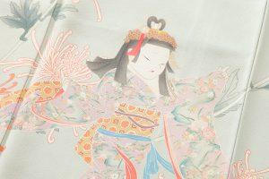 二代目由水十久作 本加賀友禅訪問着「朱菊」のサブ4画像