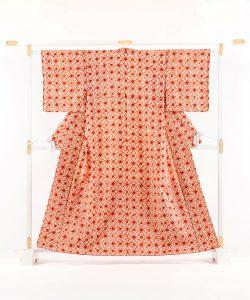 草紫堂謹製 茜染 紬着物のメイン画像