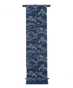 城間栄喜作 琉球紅型藍染袋帯のメイン画像